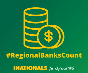 Outline of coins with words #Regional Banks Count